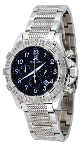Adee Kaye #AK7140-M Men's Stainless Steel Black Dial Chronograph Watch (Kaye Chronograph Mens Watch Steel)