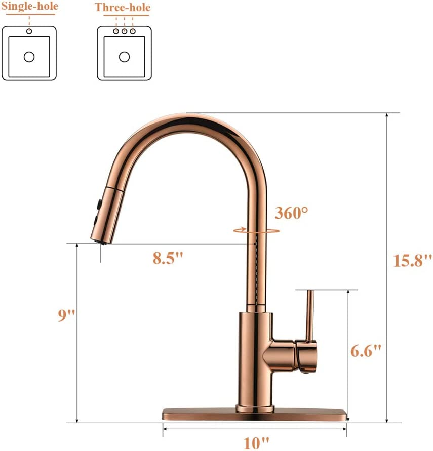 Tools & Home Improvement Sink Faucet RV Kitchen Faucet Pull-Down ...