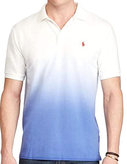 f9590d7be19b Polo Ralph Lauren Men s Big   Tall Classic Fit Mesh Ombre Polo Shirt at Amazon  Men s Clothing store