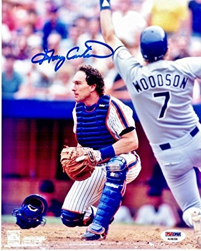 Gary Carter Autographed Signed New York Mets 8x10 inch Photo PSA/DNA Authentic