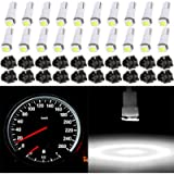 cciyu 20 Pack Xenon White Car T5 Wedge 17 37 70 5050 1SMD LED Instrument Panel Cluster Plug Lamp Dash Light Bulb Bulbs w…