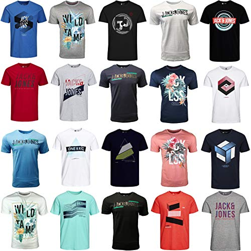 JACK & JONES Herren T Shirt 3er 6er 9er Mix Rundhals Tee Shirt Core