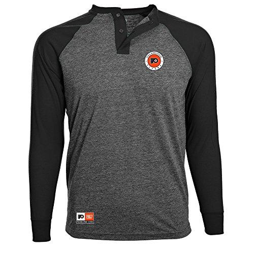 Levelwear NHL Philadelphia Flyers Adult Men Henderson Global Tee, Small, Charcoal/Black (Mens Shop Clothing Nhl)