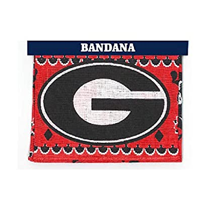 newest collection 9d022 9dbfd Image Unavailable. Image not available for. Color  Game Day Outfitters NCAA  Georgia Bulldogs Traditional Bandana, One Size, Multicolor
