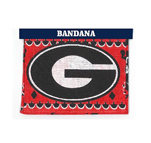 Game Day Outfitters NCAA Georgia Bulldogs Traditional Bandana, One Size, Multicolor