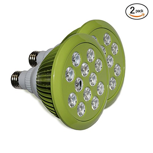 (2 pack) 12W LED Grow Light bulbs, Energy Efficient Indoor Garden For E27 Grow Lamps