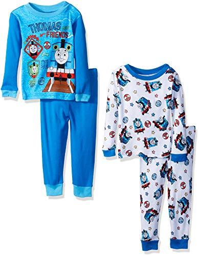 Thomas & Friends Baby Toddler Train Boys 4-Piece Cotton Pajama Set, Steam Team, 3T -