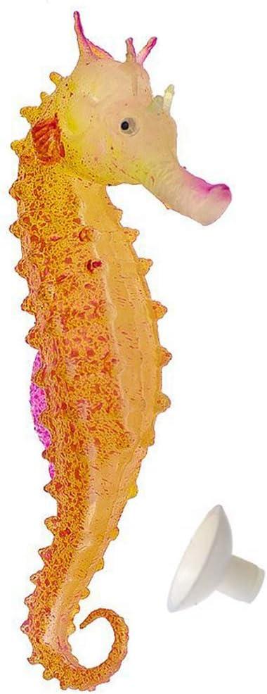 Saim Artificial Floating Plastic Fake Seahorse for Aquarium Decor Fish Tank Ornament Pack of 3