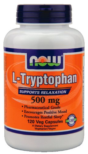 Now Foods L-tryptophane 500 mg - 120 capsules végétales (Multi-Pack)