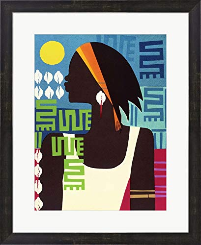 Honeywood Finish - Virtuous Woman by Varnette Honeywood Framed Art Print Wall Picture, Espresso Brown Frame, 20 x 25 inches
