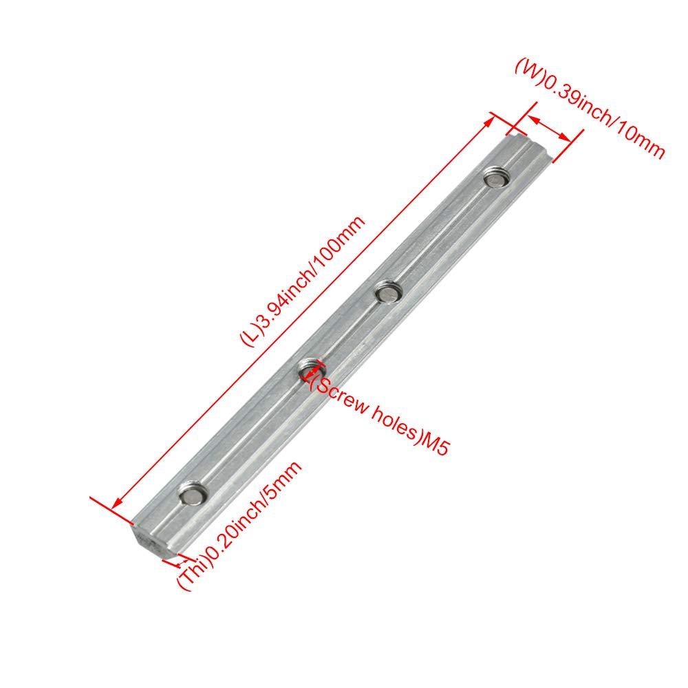 cnbtr 10/cm Carbon Stahl gerader Innen Stecker f/ür 20/Serie Aluminium mit Schraube M5/Loch 5/St/ück