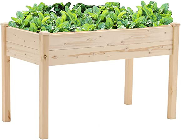 Superday Wooden Raised Garden Bed Planter Kit Patio Elevated Box for on raised wooden beds, raised wooden walkways, raised hot tub, raised flower pots, raised rectangular planter, raised wooden decks, backyard planters, curved outdoor planters, raised wooden ponds,