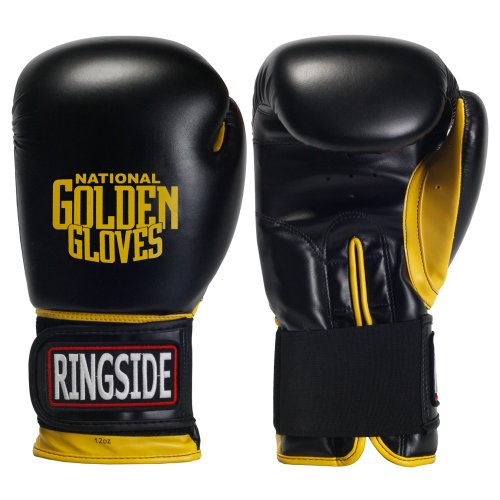 Ringside Golden Gloves Heavy Bag Gloves, 12-Ounce, Black