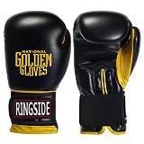 Ringside Golden Gloves Heavy Bag Gloves, 12-Ounce, Black