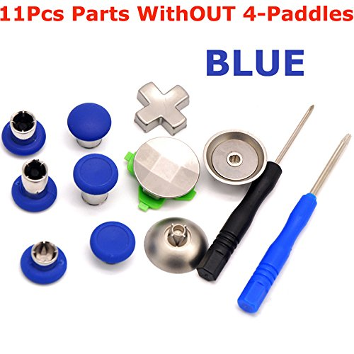 Dark Accessories Blue Color - CtrlDepot 11-in-1 Replacement for Xbox one Elite Controller Parts Swap Thumbsticks for Xbox one Controller Accessories Set (Blue)
