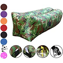 Vitchelo Inflatable Lounger Air Sofa Hammock Portable Lounge for Kids & Adults - Blow Up Couches and Sofas Chairs Best for Indoor & Outdoor Camping Beach Pool Festivals Concert Park Picnic Vacations