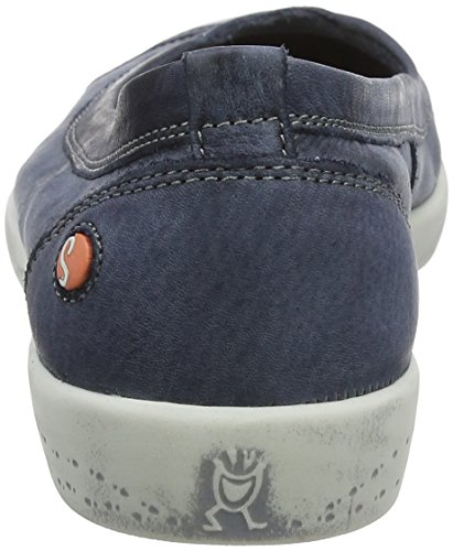Softinos Donna Punta Blu Ilma Chiusa Softinos Ilma Washed Ballerine Navy dqT1Uw