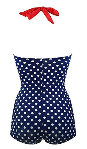 Sarah Dean Newyork - Traje de una pieza - para mujer Blue white dots