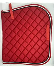 All Purpose Saddle Pad (Red) Comfort English Saddle pad Perfect for Training, Protective for Eventing, Jumping & Training (54 * 108 cm, Red)