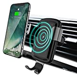 Licheers Wireless Car Charger, Gravity Car Mount Wireless Charger Phone Holder for iPhone X/8/8 Plus Samsung Galaxy S8, S8 Plus, S7, S7 Edge, S6 Edge Plus, Note 8 (Black)