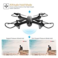 Potensic Drone with Camera Live Video, U47 HD Wi-Fi FPV RC Drone Camera, 2.4GHz 6-Axis Gyro Quadcopter - Altitude Hold, One Key Take Off/Landing by Potensic