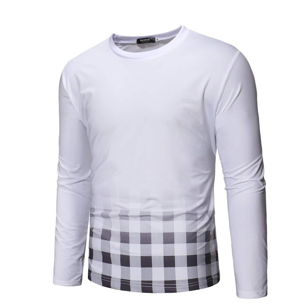 Yvelands Ropa de Hombre, Camisas para Hombres Camiseta de Manga Larga Cool Dri Camiseta Casual Impresa Camiseta de Tartán Tops Blusa: Amazon.es: Ropa y ...