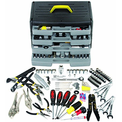 105-piece-tool-kit-set-screwdriver-pliers-wrench-ratchet-socket-auto-home-handy