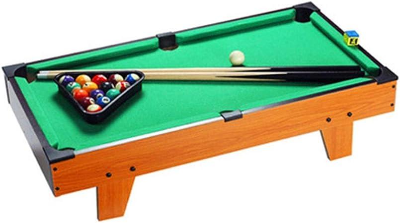 La tabla de billar Mesa de billar Mesa fijado con el Triángulo de las bolas Señales de tiza y el cepillo for niños y ...