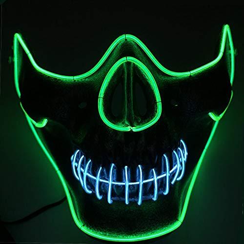TECHLINK Light up Purge Mask Creepy Scary LED Cold Light Mask Glowing Masks Horror Party Mask Creative Style Masquerade -