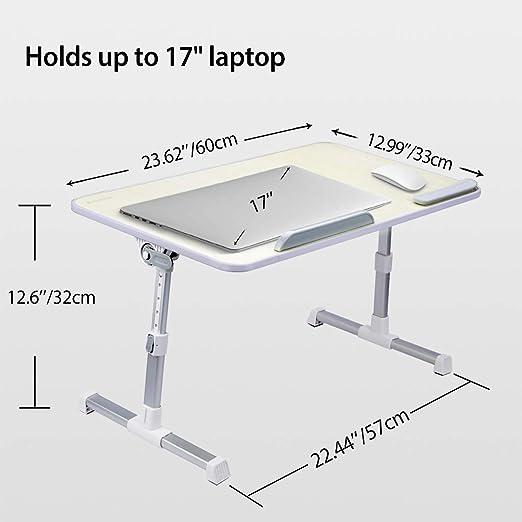 Amazon.com: Sofá de escritorio portátil y ajustable, bandeja ...
