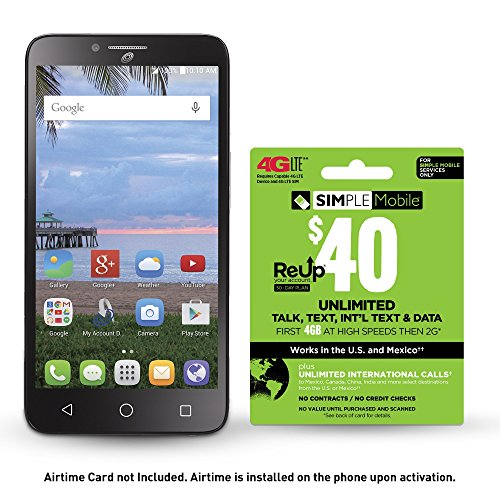 买便宜的simple mobile alcatel pixi glory lte prepaid smartphone with free airtime bundle