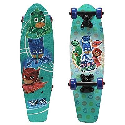 "PlayWheels PJ Masks 21"" Wood Cruiser Skateboard, Hero Time from Bravo Sports"