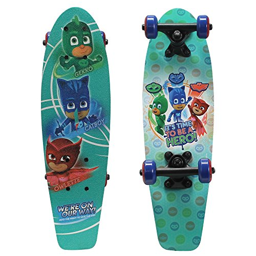 PlayWheels PJ Masks 21 Wood Cruiser Skateboard, Hero Time