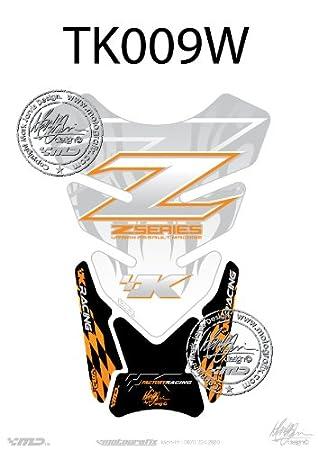 Kawasaki Z750/Z1000 blanco Z Serie motocicleta tanque pad Tankpad Motografix 3d gel protector: Amazon.es: Coche y moto