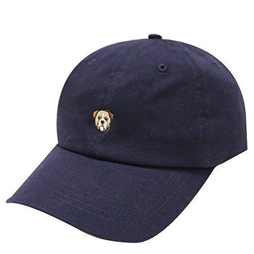 C104 Bulldog Small Embroidery Cotton Baseball Cap 8 Colors - Bulldog Hat