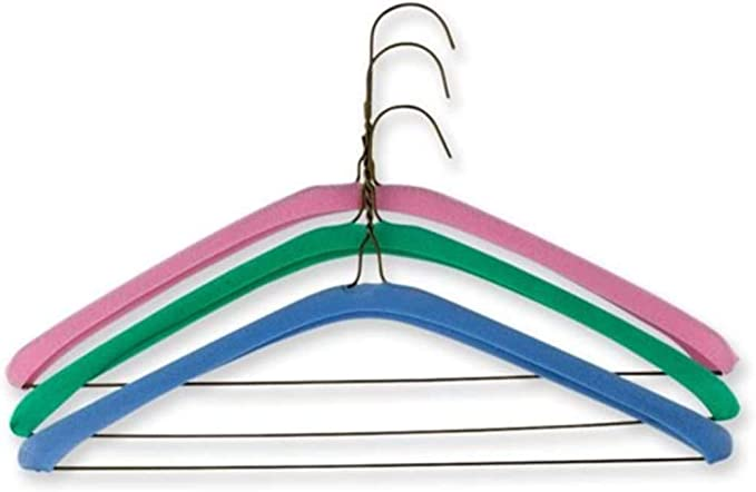 Lots 30 Practical Stretchy Anti-Skid Hanger Grips Clothes Hanger Strips Pads