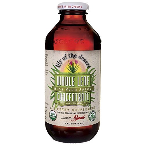 (Lily Of The Desert Aloe Vera Juice Whole Leaf Concentrate Liquid, 16 Ounce)