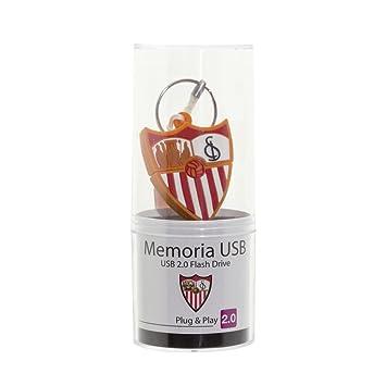 Memoria USB 2.0 Flash Drive de 16GB Sevilla FC USB 2.0, Pendrive Liciencia Oficial.