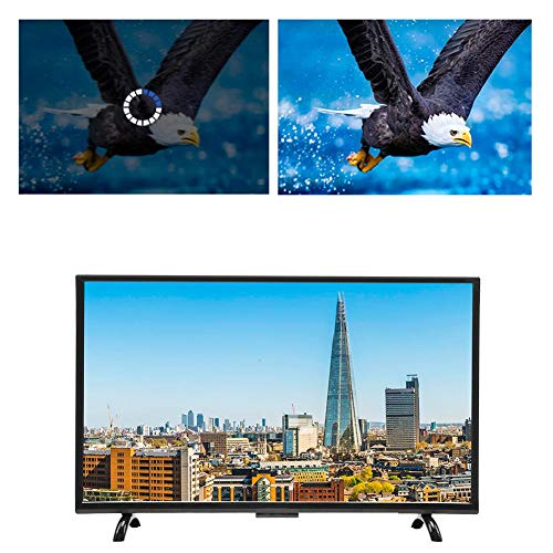 Hakeeta 43inch Large Curved 4K HDR HD Television Curved Screen Smart TV, Supports WiFi USB HDMI RF Antenna.(TV Version)(US)