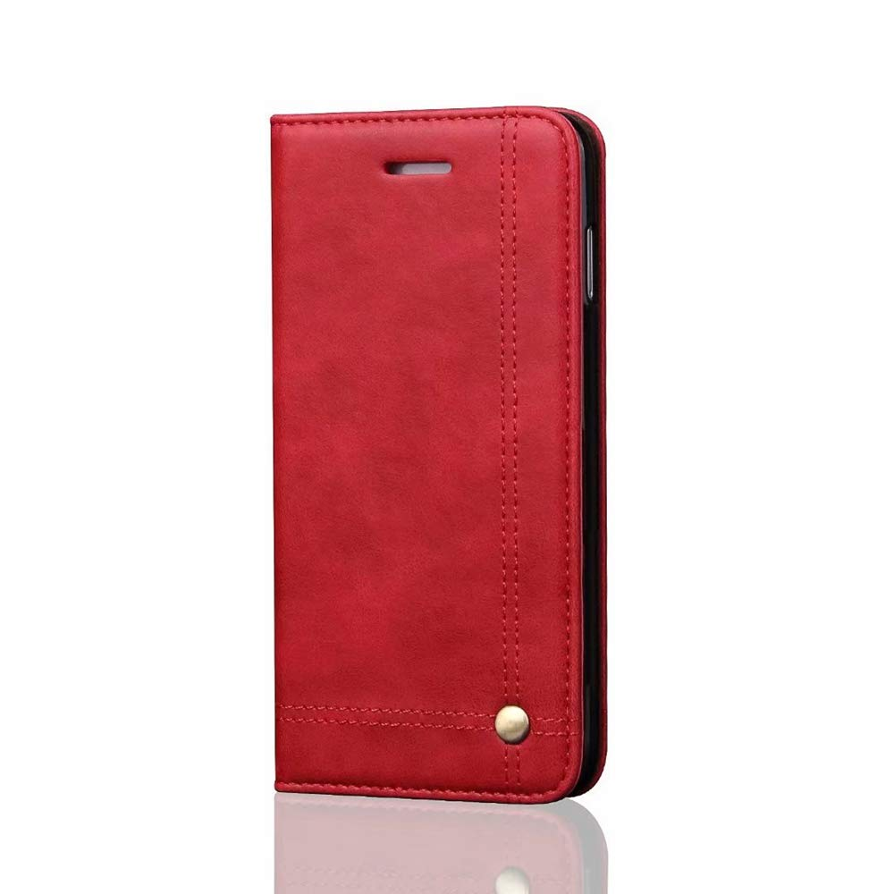 High quility case for Samsung Galaxy S9 Color : Red Retro Business Slim Flip Folio Wallet PU Leather Magnetic Protective Case Cover with Card Slots /& Stand Holder