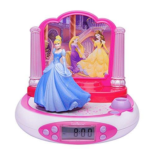 LEXiBOOK RP510DP Disney Princess Projector Radio Alarm Clock Disney Princess Alarm Clock