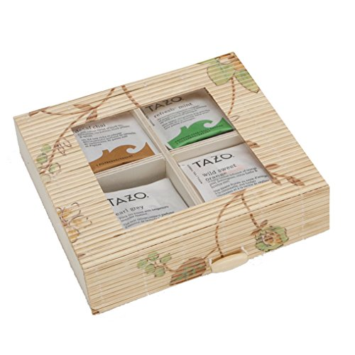Bamboo Green Leaf Tea Box Bundle - 30 tazo tea bags, tea bag storage (Tea Storage Can compare prices)