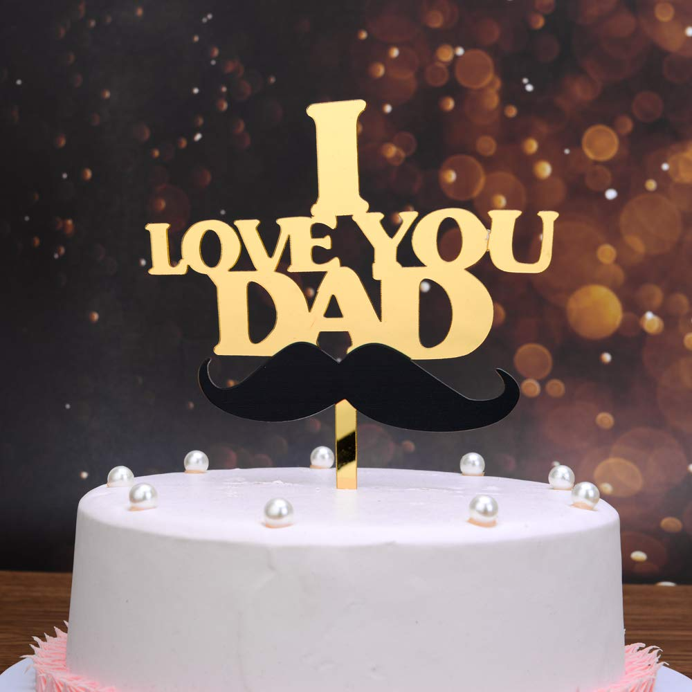 Astounding I Love You Dad Cake Topper Dad Cake Topper Dad Birthdy Gift Personalised Birthday Cards Rectzonderlifede