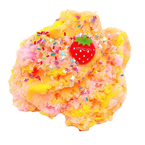 PSFS Squishys Toys,Strawberry Mud Mixing Cloud Colorful Slime Squishies Toys Putty Scented Stress Kids Clay Toy (B)