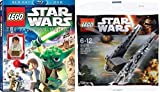 Lego Star Wars: The Padawan Menace Blu-ray DVD Combo with Young Han Solo Lego Figure + Lego Star Wars Kylo Ren's Command Shuttle 30279 Bundle