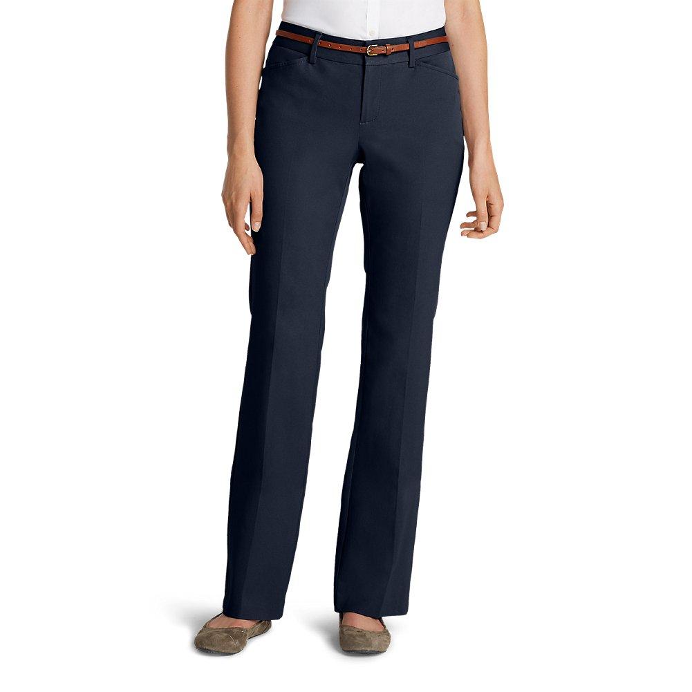 Eddie Bauer Women's StayShape Twill Trousers - Curvy, Navy Tall 10 Tall