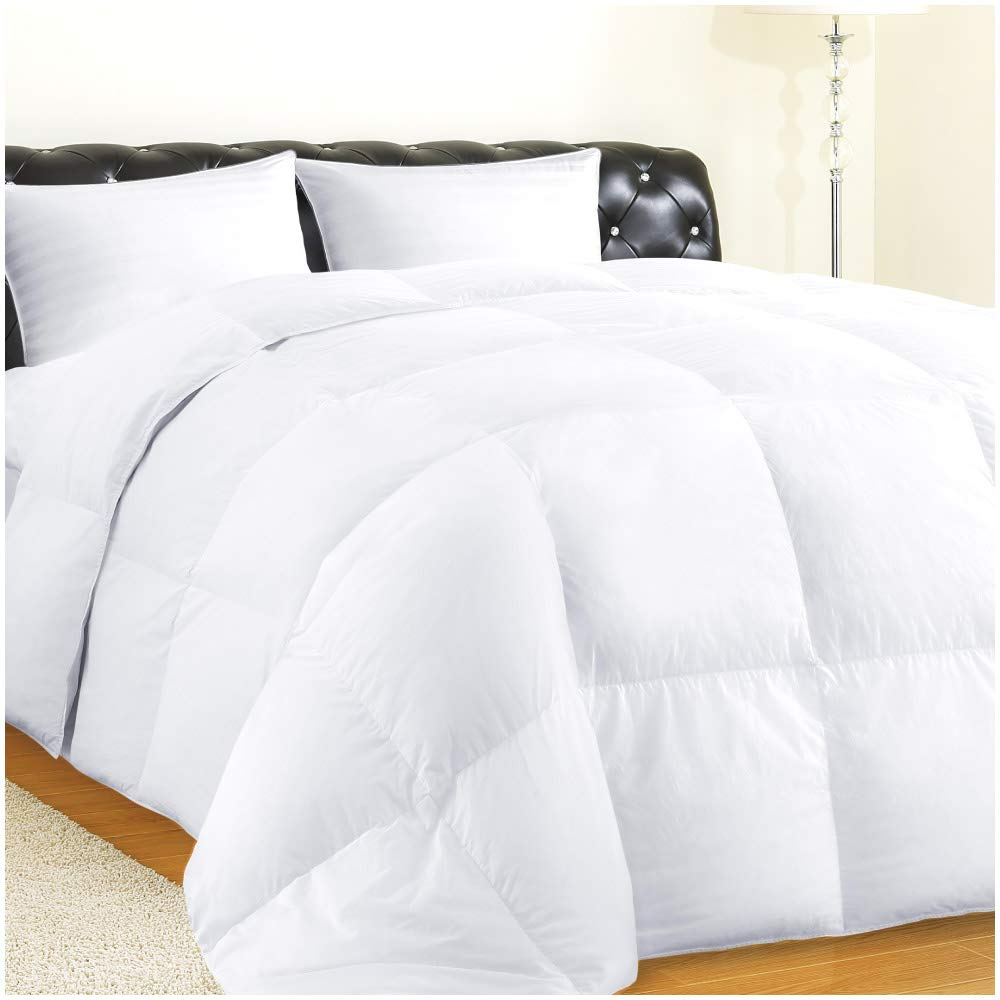 Allrange Hypoallergenic Feather and Down Comforter Duvet, Down Proof Cotton Fabric, Medium Warmth, Year Round, Machine Washable, Easy Care, Durable,King Size
