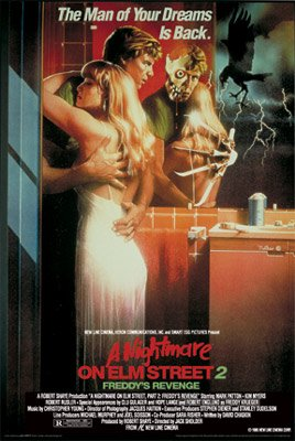 A NIGHTMARE ON ELM STREET 2 MOVIE POSTER Rare Hot 24x36