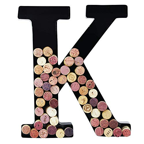 Metal Wine Cork Holder Monogram Decorative Wall Letter - Decor Letter Wall