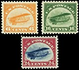 First Three Airmail Stamps Issued By The United States Mint Never Been Hinged Scott C1-3 By USPS
